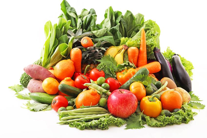 新鮮な野菜と果物 大