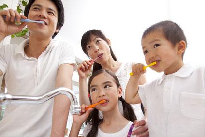 歯磨き 家族