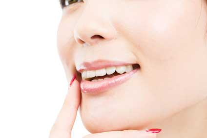 きれいな歯の女性