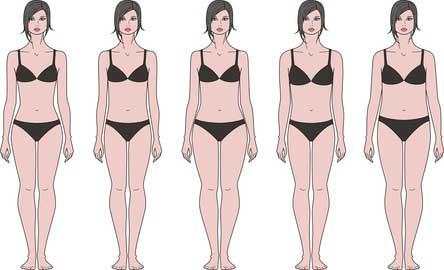 女性 体形